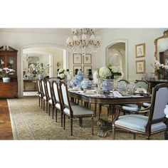 My friend, Tina from The Enchanted Home, has a spectacular abode! My Home - The Enchanted Home Elegant Dining Room, Dining Room Design, Dining Room Table, Traditional Dining Rooms, Traditional House, Traditional Kitchens, Traditional Bedroom, Sweet Home, House Ideas