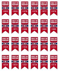 Montreal Canadiens Stanley Cup Banners I'm not a Habs fan - but you've gotta admire their Stanley Cup victories