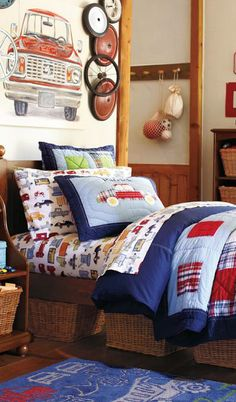 Adorable quilt/ Red,Blue and White
