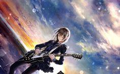 Good anime wallpaper from Anime Girls uploaded by Saeko_Love - Guitar Under The Skies Sky Anime, Anime Guys, Manga Anime, Anime Male, Eyes Wallpaper, Girl Wallpaper, Monster Boy, Goth Art, Anime Music