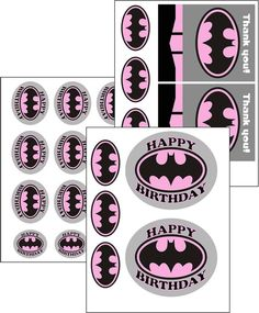 PRINTABLE Bat Girl Superhero Stickers Party Set, by OurSecretPlace, $6.49 Make a big SPLASH with little $$$ at your Superhero Themed Birthday Party by printing your own party favors, balloon labels, cup labels, and gift bag labels. Stickers / Labels work on buckets, boxes, bags, or print on card stock and make cupcake toppers, gift tags, decorations, etc. Get creative!