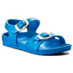 Sandály BIRKENSTOCK - Rio 1003535  Scuba Blue Furla, Birkenstock, Rio, Blues, Sandals, Fashion, Moda, Shoes Sandals, Fashion Styles