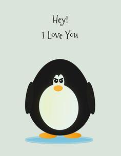 penguin love Art Print by evkedisi | Society6