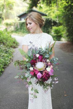 A boho bride: http://www.stylemepretty.com/california-weddings/aptos/2014/12/29/intimate-summer-wedding-at-sand-rock-farm/ | Photography: Scott Woodman - http://scotwoodmanphoto.com/