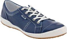 Womens Josef Seibel Caspian Lace up Sneaker (Denim)