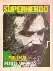 Moustaki dans la couverture de Superhebdo No 44 du 4 au 10 février 1971
