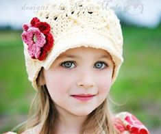 Free Crochet Hat for Girls   Great Patterns Using Cotton Yarn – Free Crochet Patterns