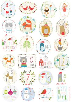 advent calendar background by sally payne. Christmas Countdown, Christmas Calendar, Noel Christmas, Winter Christmas, Modern Christmas, Scandinavian Christmas, Christmas Stockings, Illustration Noel, Christmas Illustration