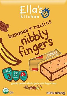 4.4 Ounce, Stage 3, Healthy & Yummy Bananas + Raisins Flavor Whole Grain Oat Finger Bars