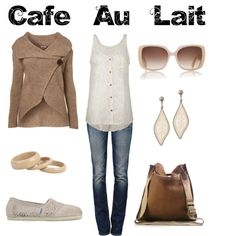 Cafe Au Lait, created by jesshehr on Polyvore