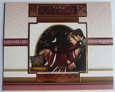 Happy Anniversary Card, Art Deco Style Card, Art Deco Inspired Anniversary Card, Couple Card, OOAK, Home Decor, 1920's, Handmade In Ireland #handmadecards #anniversary #anniversarygifts #artdeco