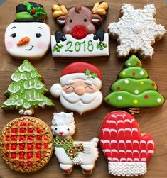Decorated Holiday Sugar Cookies - Holiday Cookies- Santa Cookies - Decorated Reindeer Cookies- Christmas Cookies- Llama Cookies- Snowman Best Picture For holiday cookies c. Cocoa Cookies, Santa Cookies, Christmas Sugar Cookies, Holiday Cookies, Christmas Treats, Christmas Baking, Owl Cookies, Baby Cookies, Decorated Sugar Cookies