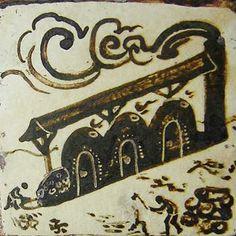 Bernard Leach Tile Pottery Kiln, Ceramic Pottery, Stone Mosaic, Mosaic Tiles, Tiles R Us, Wood Kiln, St Ives, Arts And Crafts Movement, Tile Art