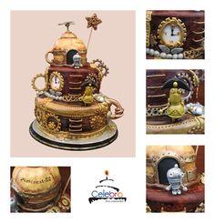 Steampunk Machinarium Cake by =The-Nonexistent on deviantART