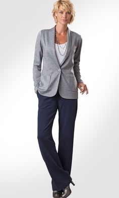Tall Knit Jacket, Tank and Central Pants | Long Elegant Legs