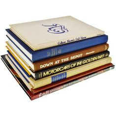 Vintage History, Art and Design Coffee Table Books - Set of 7 ($35) ❤ liked on Polyvore featuring books