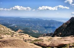 Pikes Peak i but wanna go there again! the view was beautiful but the drive was scary!