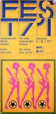 Poster for the Belgrade International Film Festival, 1971.