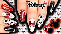 Nail Art Designs Mickey Mouse Step By Step - disney mickey & minnie mouse nail art! Princess Nail Designs, Disney Princess Nails, Girls Nail Designs, Art Designs, Minnie Mouse Nail Art, Mickey Mouse Nails, Pink Minnie, Christmas Nail Designs, Christmas Nails