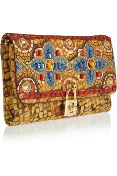 Dolce & Gabbana - Fall - embellished brocade clutch
