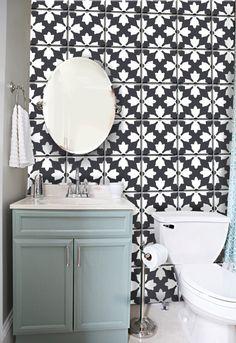 Bratislava style Tile/wall sticker: Black & White  44 by Bleucoin