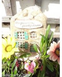 Where Flowers Bloom You WIll Find Fairies, Fairy House