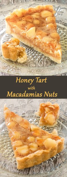 Honey Tart with Macadamias Nuts.    Wonderful combination of flavors - honey and lightly toasted macadamias, on a crispy shortbread crust.  You can make this tart dairy or dairy-free. Both versions are super tasty.   http://www.winnish.net/2016/09/9062/