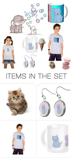 """Cats are Cool"" by fit4you on Polyvore featuring art, whimsical, cats, tshirts, cartoon and Kittens"