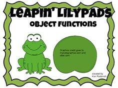 Leaping Lily Pads: Object Functions - free