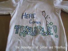Adorable shirt created with Painters Markers! #GlueNGlitter