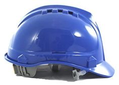 """Vented Hard Hat by AMSTON- Adjustable, Lightweight Safety Helmet (Blue), Meets ANSI z89.1 Standards, Personal Protective Equipment / PPE for Construction, Home Improvement, & DIY Projects  ANSI Z89.1 APPROVED - This durable and affordable hard hat meets OSHA / ANSI Z89.1-2009 Standards while offering protection while working on the job.  SIMPLE MULTIPOINT ADJUSTMENT allows you to quickly find the right fit for your head shape. Soft cloth suspension """"x"""" straps for a comfortable fit.  FE..."""