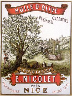"11"" PRINT NICOLET OLIVE TREE OIL FRANCE"