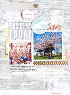 #papercraft #scrapbook #layout  Fave *Main Kit Only* by qingmei at @Studio_Calico