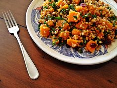 Wheat Berry Salad with Whiskey-Soaked Cranberries, Kale and Roasted ...