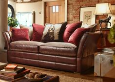 Alexander & James Lancaster Sofa Collection - Option 2 from George Tannahill & Sons - large leather sofas.