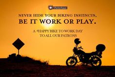 Once a #biker, always a biker; be it work or be it play! #HappyBikeToWorkDay to our patrons.   #Porterhuasgrill #Porterhaus #Porterhausquotes