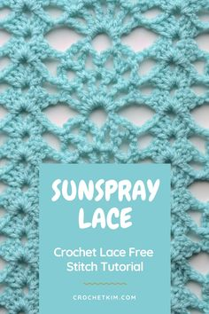 #free #crochetstitch #tutorials #crochetkim #sunspraylace Different Crochet Stitches, Tunisian Crochet Stitches, Freeform Crochet, Crochet Stitches Patterns, Crochet Patterns Amigurumi, Crochet Shawl, Diy Crochet Projects, Crochet Tutorials, Yarn Projects
