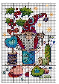Santa Cross Stitch, Cross Stitch Fairy, Cross Stitch Love, Beaded Cross Stitch, Modern Cross Stitch, Cross Stitch Charts, Cross Stitch Embroidery, Cross Stitch Patterns Free Easy, Counted Cross Stitch Patterns