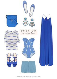 Color Lust     Mediterranean Blue, perfect for a Greek getaway (or Staycay!) via www.StyleMachineBlog.com  #cobalt #colorpalette #style