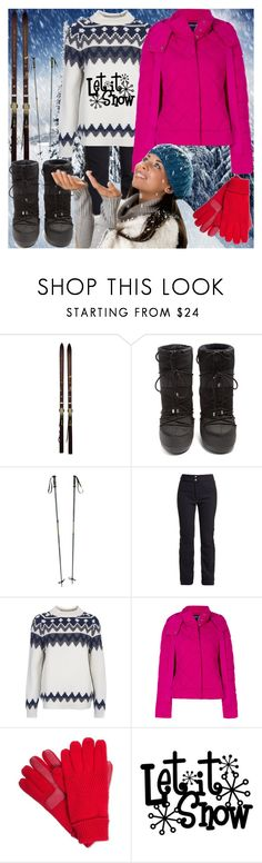 """It's Cold And Snowing!"" by bevamartin ❤ liked on Polyvore featuring Rossignol, Moncler, Fusalp, Barbour, Armani Jeans and Isotoner"