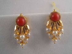 Image result for coral earrings indian jewelry