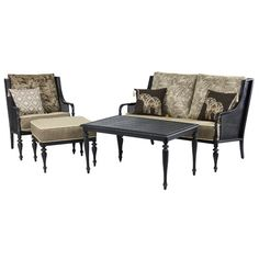 Found it at Wayfair - Sherborne 4 Piece Conversation Seating Group with Cushion