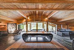 Billard Blacklight (by Toulet) #billiards #table #design #luxe #toulet #billards #wood #chalet #deco