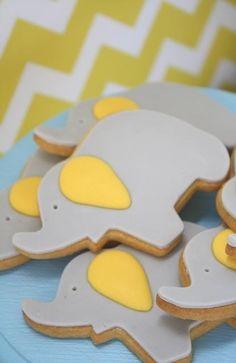 Sweet Baby Elephant Cookies www.spaceshipsandlaserbeams.com