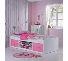 Buy HOME Malibu Cabin Bed Frame - Pink on White at Argos.co.uk - Your Online Shop for Children's beds, Children's furniture, Home and garden.