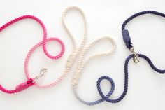 Make Your own DIY Dip Dyed Rope Leash - Pretty Fluffy