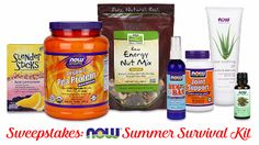 Enter for a chance to win the NOW® Summer Survival Kit Sweepstakes. NOW products are all natural ingredients. I also use NOW Essential Oils that are 100% pure Oil.