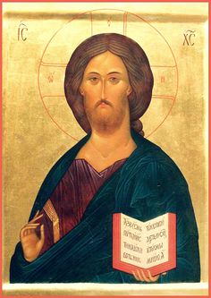 """Christ Pantokrator. 2003. Wood, gesso, tempera, gilding. 13,78""""x 9,84"""". Private collection (Germany)."""