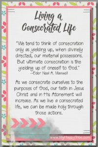 August 2017 Living a Consecrated Life