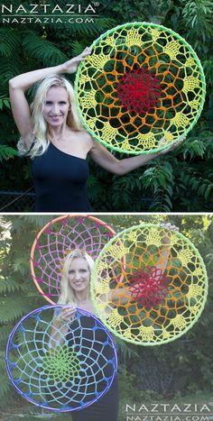 Crochet Mandala Dream Catcher.